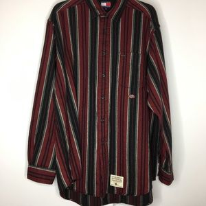VTG 90 Tommy Hilfiger Motorcycling Striped Flannel